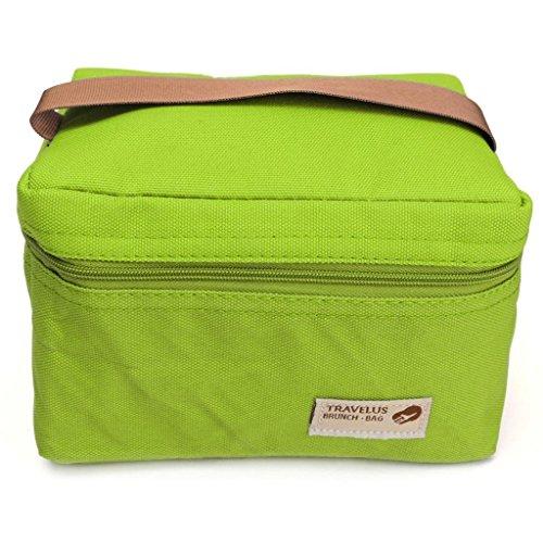 Nopea Picknick Tasche Kleine Tragbare Kühltasche Mini Mittagessen Taschen Wasserdichte Mittagessen Beutel Imbiss Isolierung Taschen Für Campingreisen Grün