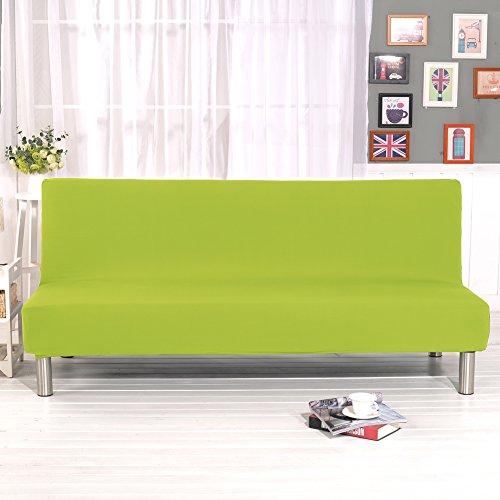 Grünes Stoff Sofa Couch (mony Pure Color Sofa Bezug Stretch Elastischer Stoff Sofa Couch Armless Strechhusse Ausziehbares Couch Displayschutzfolie Blütenmuster Bettüberwurf, grün, 160cm-195cm)