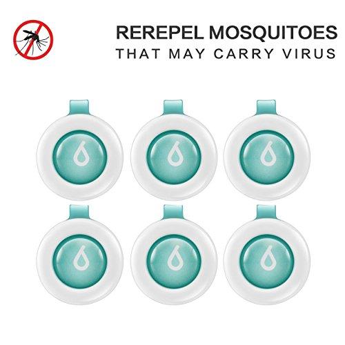 Mückenschutz Schnalle, Mosteck Bestes Insektenschutzmittel Klemme für Innenraum und Außen Wasserdicht Insekten abwehrend mit 60-Tage Schutz, kein Hautkontakt natürlich sicher und Frei von DEET für Kinder und Erwachsene
