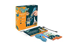 3Doodler Start 3D Printing Pen for Kids, Age 6 & Up - STEM Toy for Boys & Girls - AMAZON Essentials Set with FREE Refill Filaments + DoodleBlock + Activity Guide