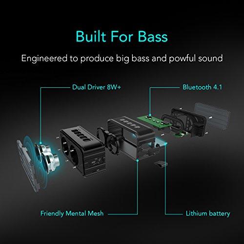 Techvilla-Altoparlante-Bluetooth-41-Speaker-Portatile-Senza-Fili-con-Impermeabile-e-AntiurtoRaggio-di-Connessione-Bluettoth-di-10-Metri-Tempo-di-Riproduzione-di-10-Ore-e-Microfono-Incorporato-per-iPho