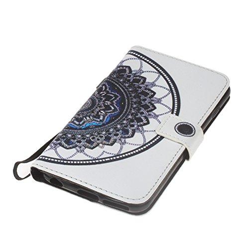 Cover iPhone 6 / 6S 4.7 Flip Case Morbido Portafoglio Custodia in Pelle PU , MAGQI Telefono Porta Carte di Credito Titolare Pittura 3D Shell Protettivo - Torre Sogno Mandala