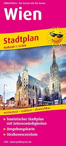 Wien: Touristischer Stadtplan mit Sehenswürdigkeiten und Straßenverzeichnis. 1:16.000 (Stadtplan / SP)