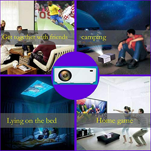 Miniature Projector Portable Mini Home Theater Support 1080P HD Projector 2800 High Lumen LED Light Health Without Radiation