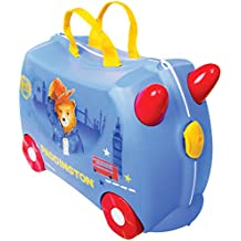 Trunki Paddington Bear Ride and Carry On Suitcase (Blue) Children's Luggage, 18 L, 46 cm
