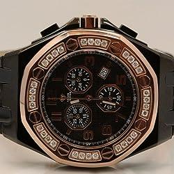 Aqua Master Royal Oak Mens Diamond Watch 1.50ctw W3258