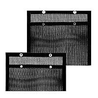 حقيبة شبكية للشواء من Hangnuo 2 قطعة غير لاصقة لشواء الفرن شواء شواء شواء قابلة لإعادة الاستخدام وقابلة للغسل مصنوعة من مادة PTFE مقاومة للحرارة وجيوب مجففة حرارية.