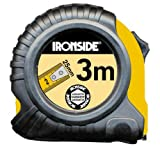 Ironside 150211 Rollbandmaß mit Stop 3 m 19mm Band gummiert