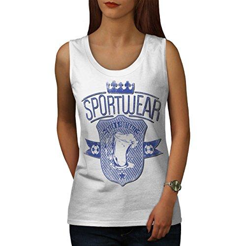 beer-football-team-sports-wear-women-white-l-tank-top-wellcoda