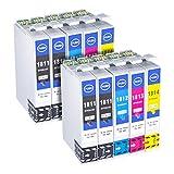 Hehua 18XL kompatibel Tintenpatrone für Epson 18 18XL Ersatz für Epson Expression Home XP-202 XP-305 XP-415 XP-412 XP-215 XP-312 XP-212 XP-405 XP-315 (4 Schwarz, 2 Cyan, 2 Magenta, 2 Gelb)
