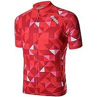 MaMaison007 Mens Cycling Jersey MTB biciclette abbigliamento ciclismo elasticità di pantaloncini poliestere traspirante rapida asciugatura - rosso -S