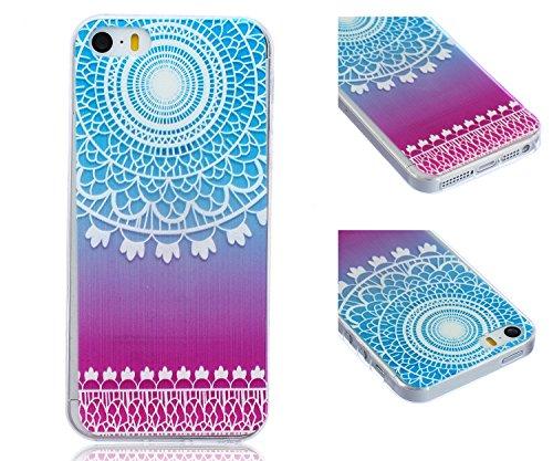 ZeWoo TPU Coque - BF016 / Un Arbre Féerique - pour Apple iPhone 5 5G 5S Étui Housse Protecteur BF004 / Portulaca Grandiflora Coloré