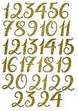marinamalina adventskalender Zahlen adventskalender bügelbild Adventszahlen zum Aufbügeln Aufkleber Hotfix Bügelbild Textilaufkleber Glitterfolie Glitzerfolie 451 Gold 24 Stück