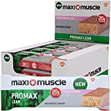 Maximuscle Promax Lean High Protein Bar, Cookie Dough, 60 g, Pack of 12