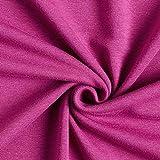 Fabulous Fabrics Alpenfleece Kuschelsweat Uni – Purpur — Meterware ab 0,5m — zum Nähen von Strickjacken, Pullovern und Nachtwäsche