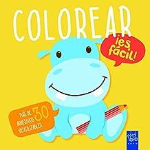 Colorear ¡es fácil! Hipopótamo: Con adhesivos