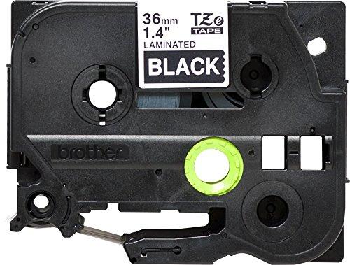 Brother Original P-touch Schriftband TZe-365 36 mm, weiß auf schwarz (kompatibel mit Brother P-touch P3600, P9600, P9700PC, P9800PCN)