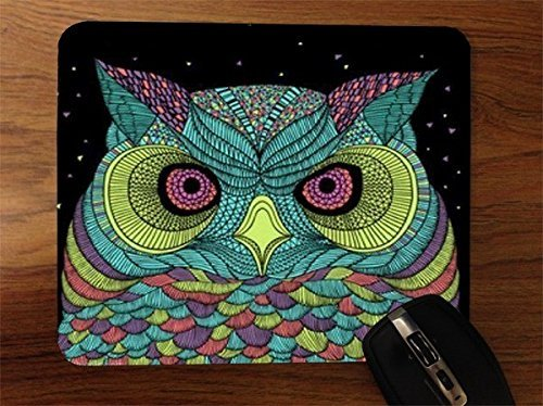 technicolor-owl-desktop-office-silicone-mouse-pad
