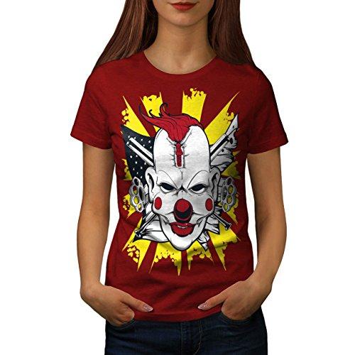 Clown schaurig Böse Horror Damen S-2XL T-shirt   Wellcoda Red