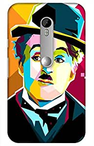 iessential chaplin Designer Printed Back Case Cover for MOTO G TURBO