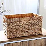 Outtybrave 1 pz Stile Rurale Storage Box Makes Up ricevere Cestino Desktop Bamboo Storage Box Cosmetici Telecomando Scatola portaoggetti, L, L