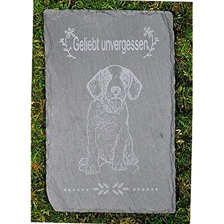 Möbelbörse Tiergrabstein Grabstein Trauerstein Tiergrabstein Gedenkstein Naturstein Schiefer Hund