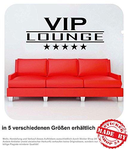 Wandtattoo VIP LOUNGE mit Sternen VIP Loge Wohnzimmer Wandaufkleber Aufkleber 30 Farben zur Auswahl...