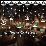 PVC kerststickers, kerst raamstickers decoratie, kerst cartoon raamstickers, huis kerstversiering voor glazen ramen
