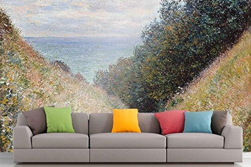 The Museum Outlet Roshni Arts®-kuratierte Art Wall Mural-Monet-Road at La Cavee, Pourville | selbstklebend Vinyl Ausstattung Décor Art Wand-121,9x 162,6cm