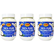 KTC 100% Pure Coconut Multipurpose Oil 500ml Jar x 3 Qty (pack of 3) - Used for Hair, Cooking, Moisturiser