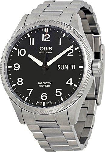 Oris Big Crown Propilot giorno data automatico in acciaio INOX da uomo Swiss orologio 0175276984164–0782219by Oris