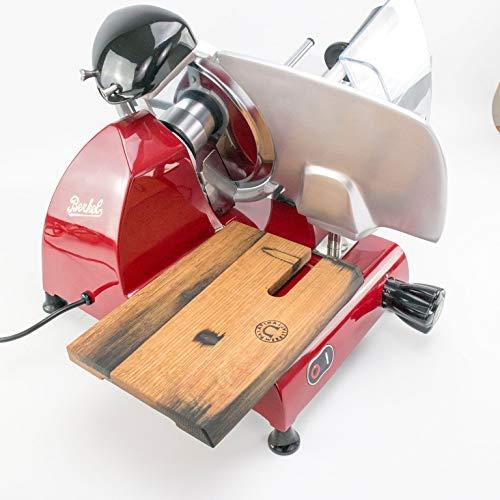 Palatina Werkstatt von Hand gefertigtes Schneidebrett (Eiche) für Aufschnittmaschine Berkel Red Line 220-250, aus den Fassdauben von Alten Weinfässern hergestellt