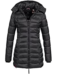 Marikoo Damen Mantel Winter Jacke Steppjacke Winterjacke gesteppt Übergang warm Abendsternchen XS-XXL 14-Farben