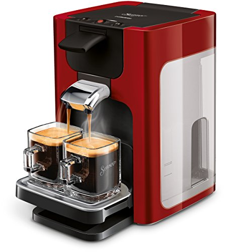 Philips Senseo HD7865/80 Quadrante Kaffeepadmaschine, XL-Wassertank, rot thumbnail