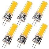 GRV G4 COB 2508 4 W DC12 ~ 24 V Schrank LED Silikon Licht Kristall 35 W Leuchtmittel Halogen Track Ersatz, warmweiß, g4, 4.00 wattsW 12.00 volts