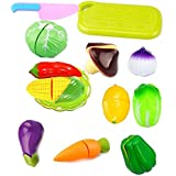 Zaid Collections Realistic Sliceable 13 Pcs Vegetables Cutting Play Toy Set With Velcro