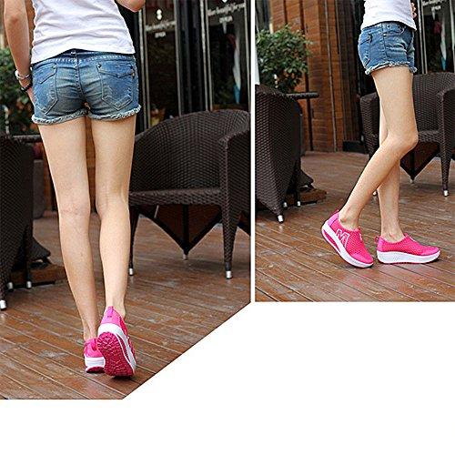 Donne Scarpe da Ginnastica All'aperto Formatori Scarpe Maglia Anti Scivolare Rosa