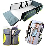 Travel Bassinet - 3 in 1 Portable Changing Station, Travel Crib, & Diaper Bag   Bonus Bed Sheet & Stroller Attachment   Perfect Travel Bassinets for Babies & Travel Accessory