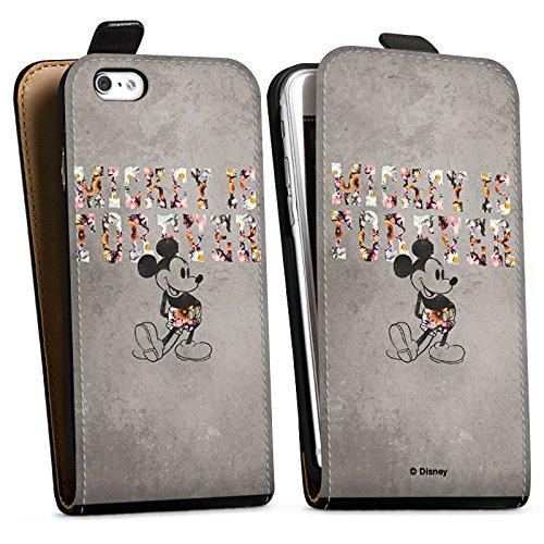 Apple iPhone 8 Silikon Hülle Case Schutzhülle Disney Mickey Mouse Geschenke Merchandise Downflip Tasche schwarz