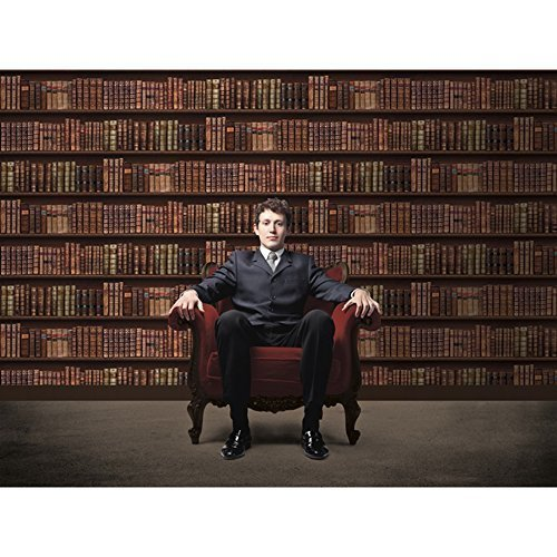 Multi Colour - 575208 - Biblio - Bookcase - Bookshelf - Library - Classic Leather Books - Direct Wallpapers by Grandeco -