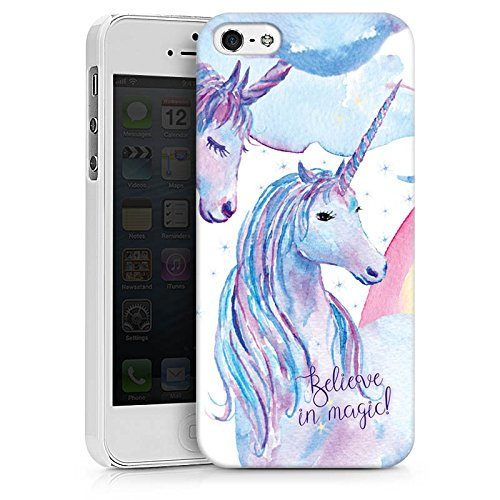 Apple iPhone X Silikon Hülle Case Schutzhülle sprüche einhörner unicorns Hard Case weiß