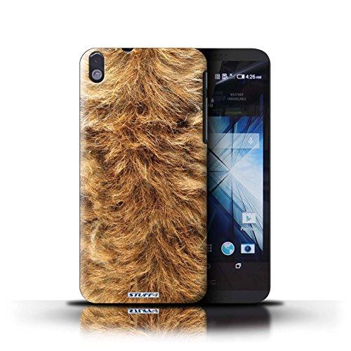 Kobalt® Imprimé Etui / Coque pour HTC Desire 816 / Vache/Noir conception / Série Motif Fourrure Animale Chien