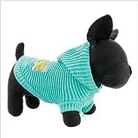 yunt Perros Jersey elástico Ropa para mascotas pequeñas Medianas Perros Gatos con gorro rosa/azul (XS/S/M/L)
