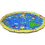 ZMXZMQ Kleinkind Sprinkler Splash Water Spielmatte, 100Cm Outdoor Aufblasbare Sprinkler Pad Wasserspielzeug, Für Kinder Kleinkind Babie Family Pet