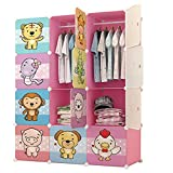 #8: GTC Multi Use Clothes Organizer, Bookcase, Storage Cabinet, Wardrobe Closet 110.5 x 47 x 146 CM Cloth Rack ( IT N - STW032 )