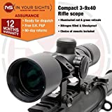 3-9x40 IYS Compact lightweight Illuminated Rifle scope (20mm Weaver Mounts)