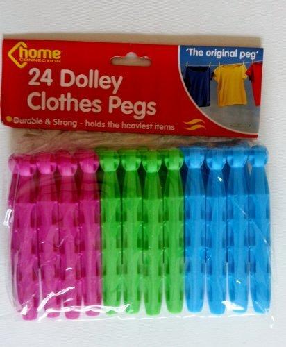 24 Dolly secado de estacas para tiendas de ropa tendedero para la colada o Craft ETC