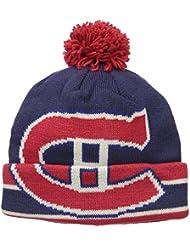 "Montreal Canadiens CCM NHL ""Split Logo"" Cuffed Knit Hat Chapeau with Pom"