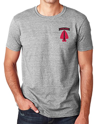 US Army Delta Force Embroidered Logo - Ringspun Cotton T Shirt By Military online (Grau T-shirt Logo Army)