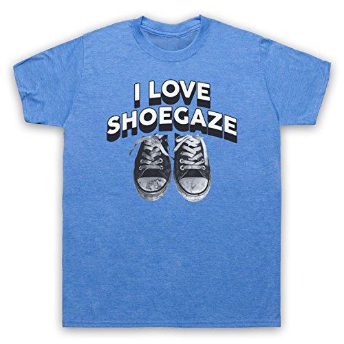 I Love Shoegaze Indie Alternative Rock Fan Herren T-Shirt Jahrgang Blau
